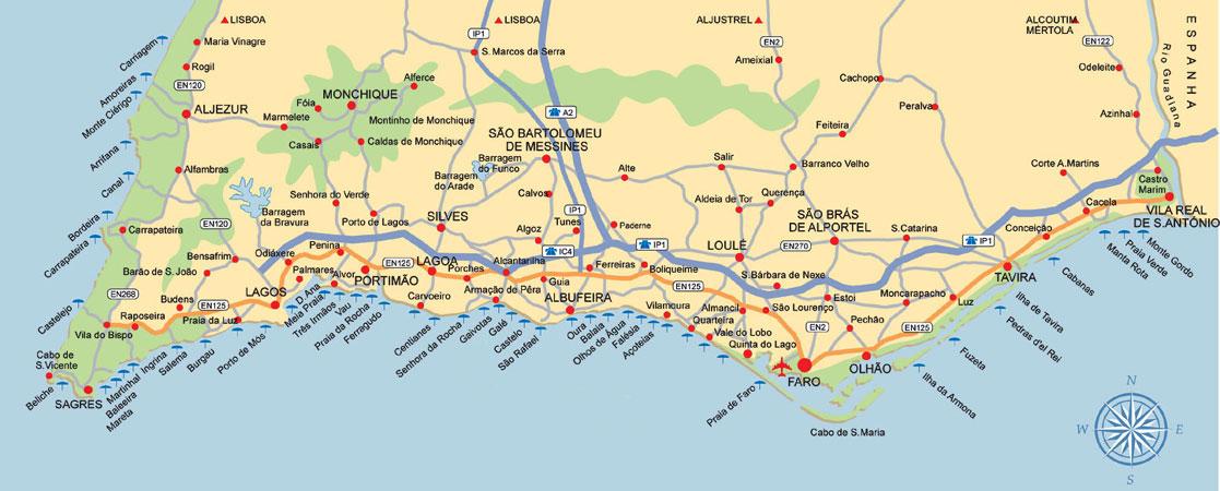 mapa do algarve e sul de espanha Rent a car Algarve   low cost car rental   Alugar carros Aeroporto  mapa do algarve e sul de espanha