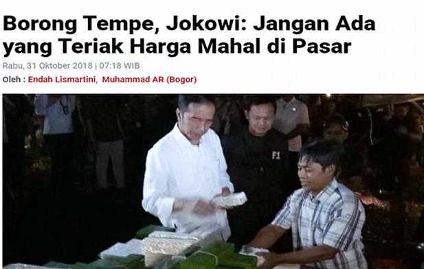 Pak Jokowi,  Kami Tagih Janji Bapak Soal Tempe 2 tahun Lalu