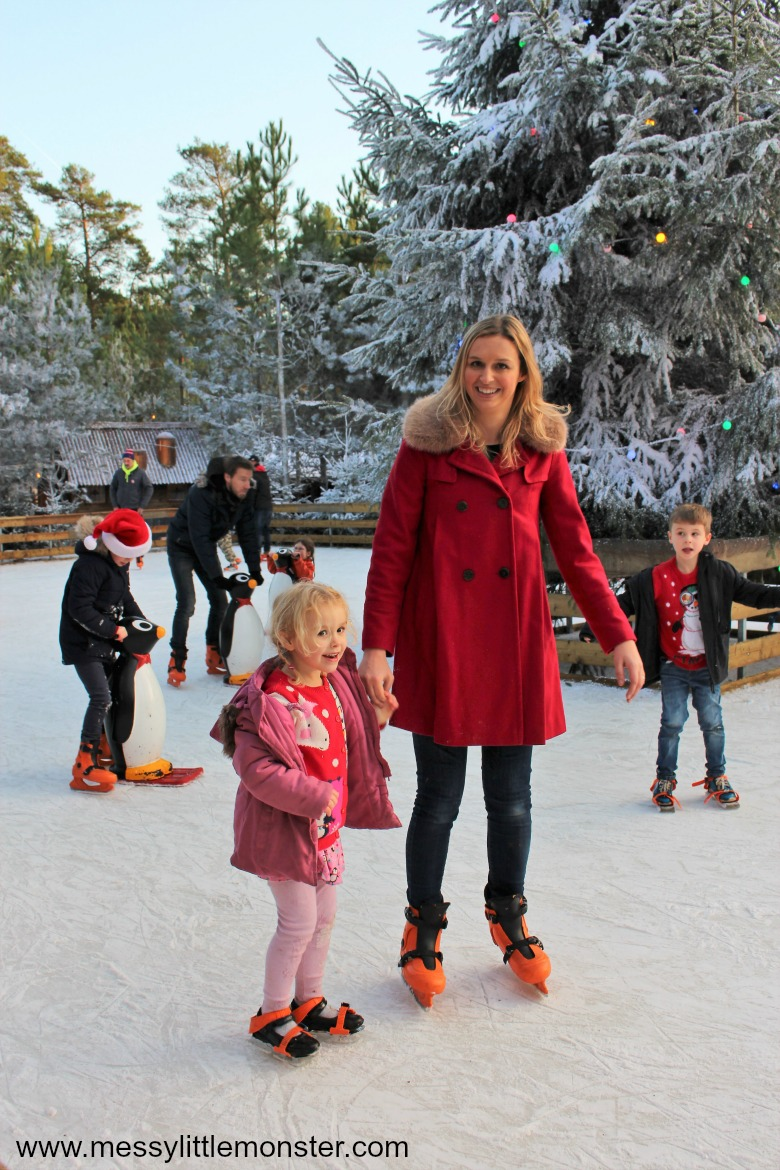 Lapland UK review. Ice skating in elf village