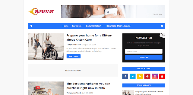 SuperFast Premium Blogger Template
