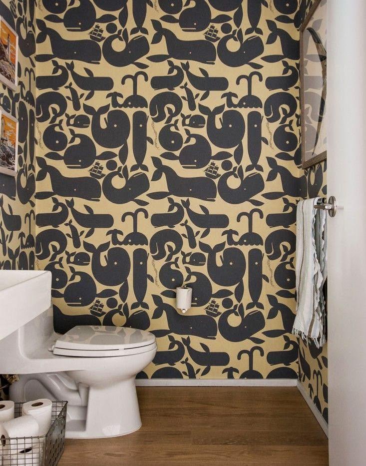 Decoration toilettes original trendy wc original - Papier peint original pour wc ...