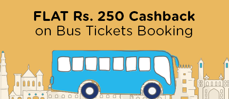 FLAT 250 Cashback on Bus booking of 350 and above Paytm Wallet Credit