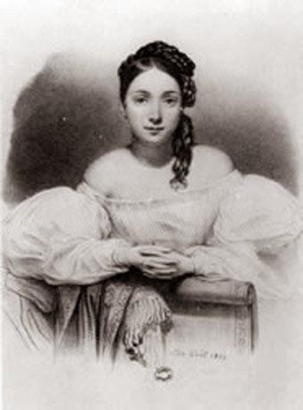 Juliette Drouet by Alphonse-Léon Noël, 1832