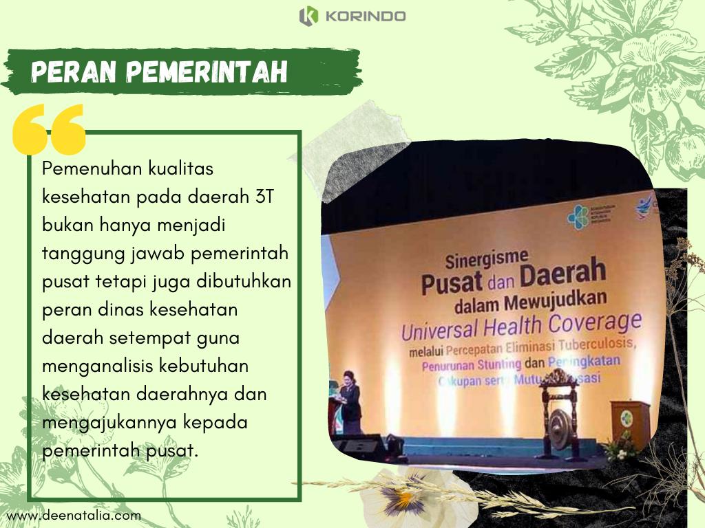 Peran pemerintah dalam bidang kesehatan