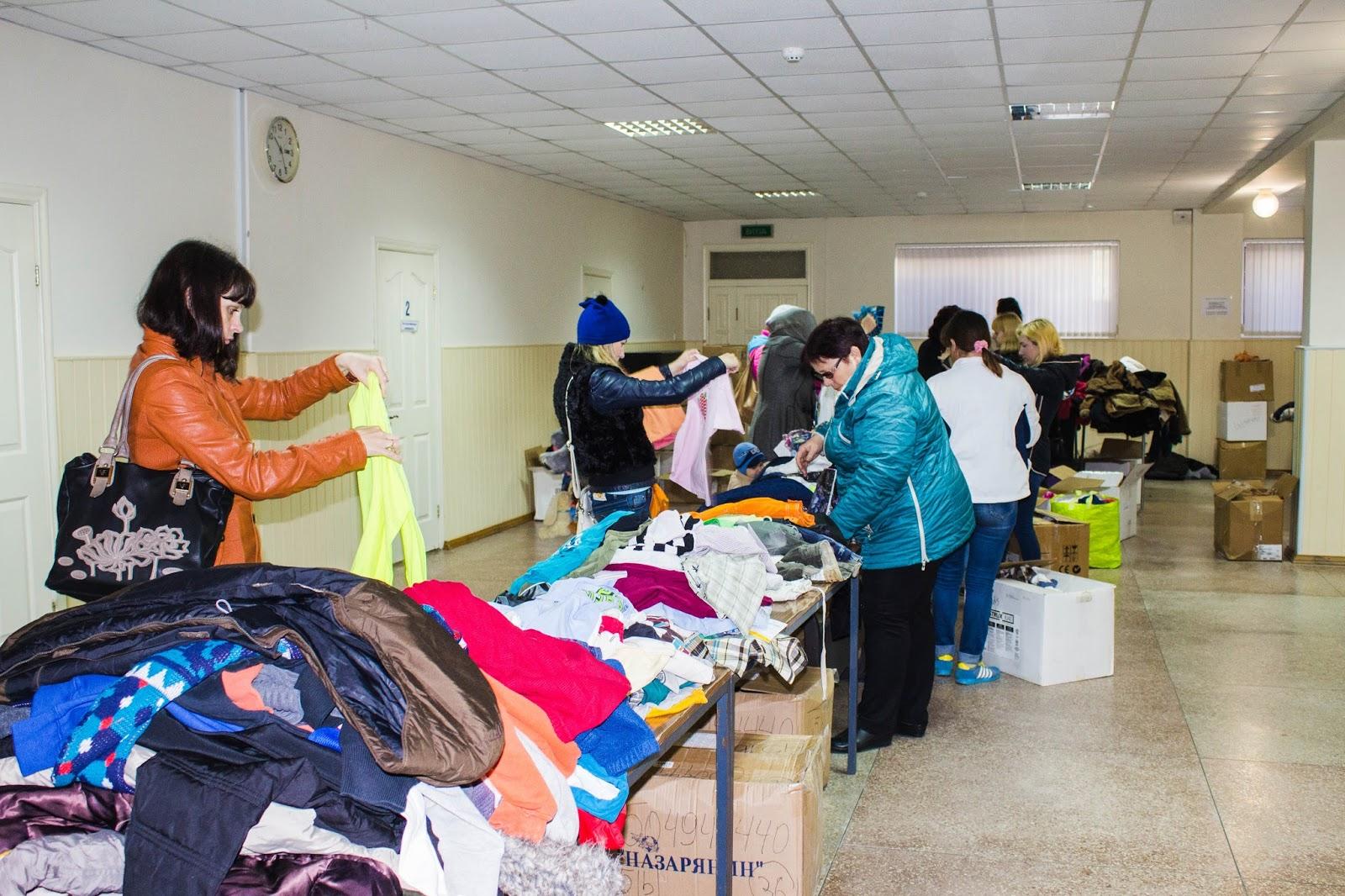 В Новій Каховці проведено благодійну акцію для вимушених переселенців та учасників АТО