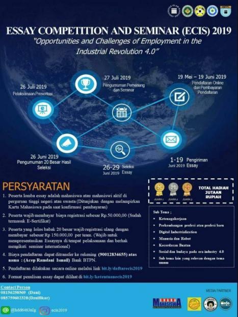 Lomba Menulis Esai Nasional 2019 di Universitas Islam Bandung
