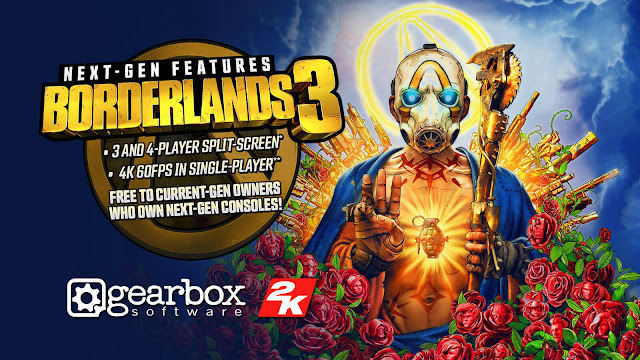 borderlands 3 ps5 xbox series x free version upgrade release date november 12 gearbox software 2K games next-gen console smart delivery feature pc ps4 xb1 action role-playing first-person shooter game