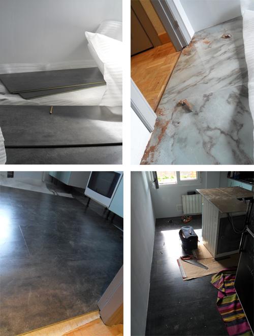 Lalole blog la reforma sin obra de mi cocina un antes y - Como pintar las juntas del piso ...