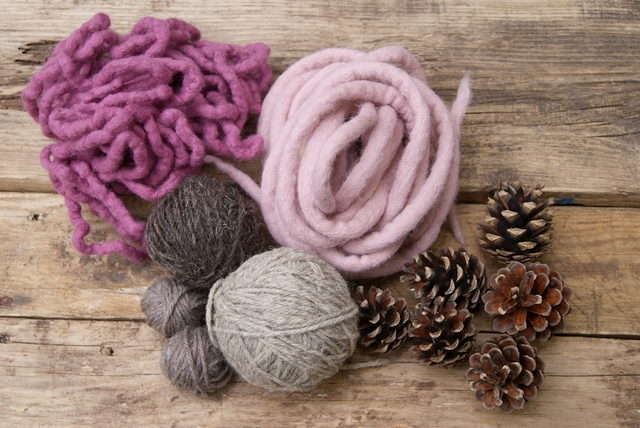 Material Filzschnüre Wolle Zapfen für Traumfänger Türkranz