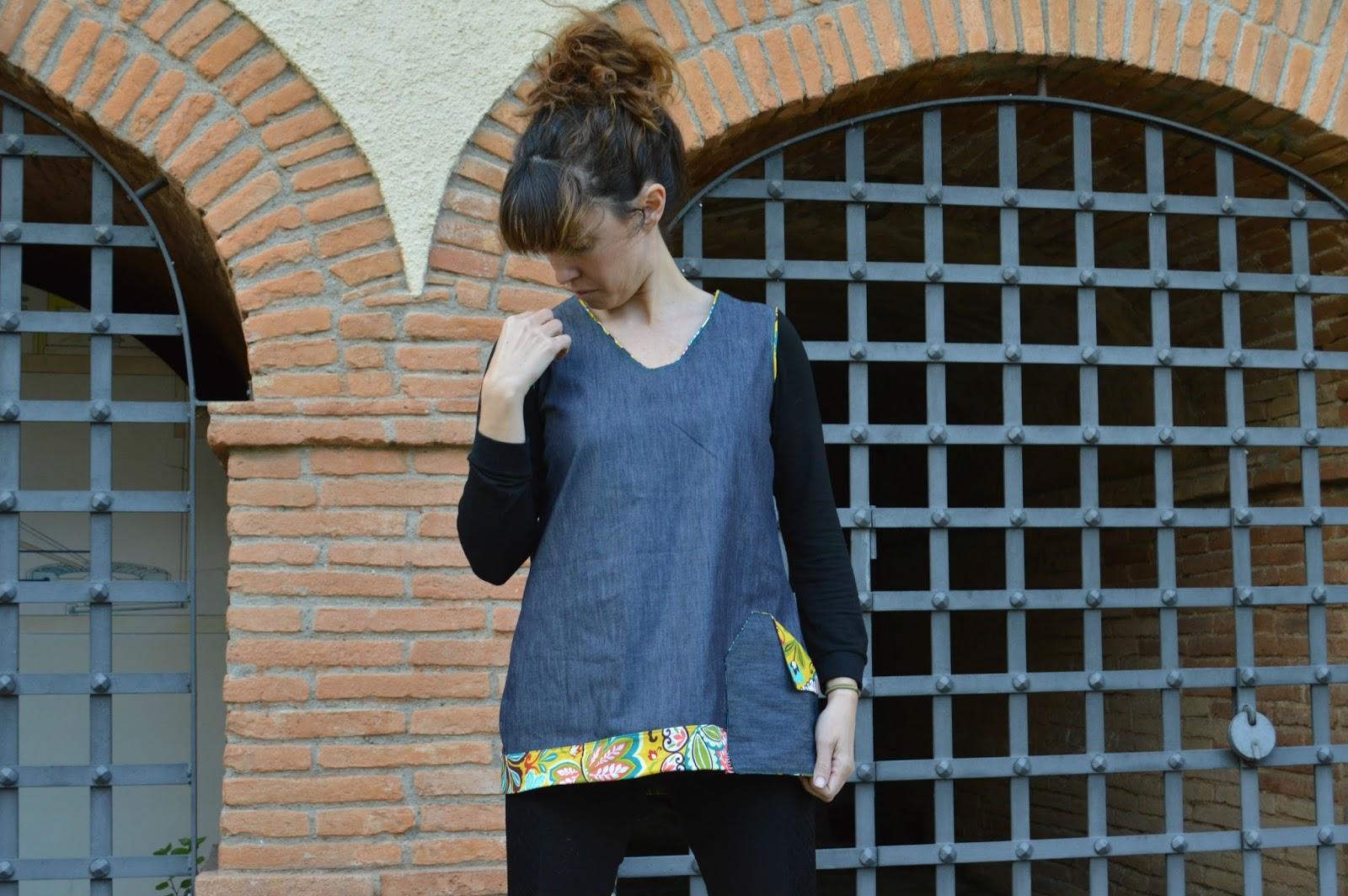Vestido tejano handmade uVe