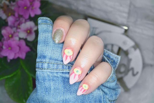 Inspiracja na wakacyjne paznokcie,letnie paznokcie. Pomysł na paznokcie