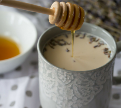 Earl Grey Latte with Lavender and Honey #drink #lavender