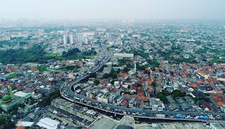 Penampakan Foto Udara Kemacetan Di Fly Over Ciputat