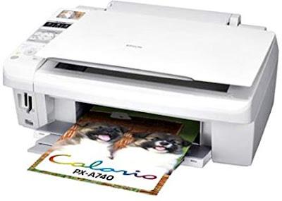 Epson Colorio PX-A740ドライバーのダウンロード