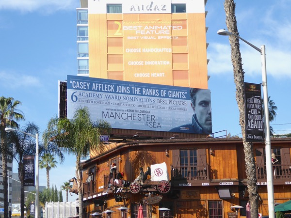 Manchester by the Sea Oscar nominee billboard