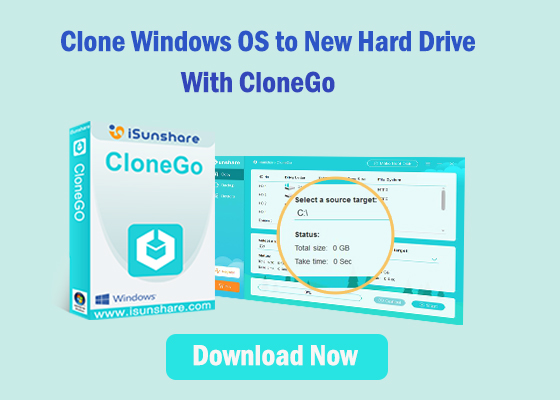 clone Windows OS to new hard drive with CloneGo