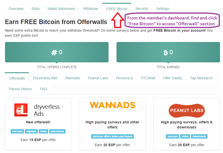 Earn bitcoins for doing tasks