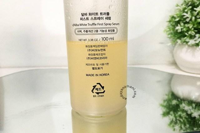 tekstur dalba first spray serum