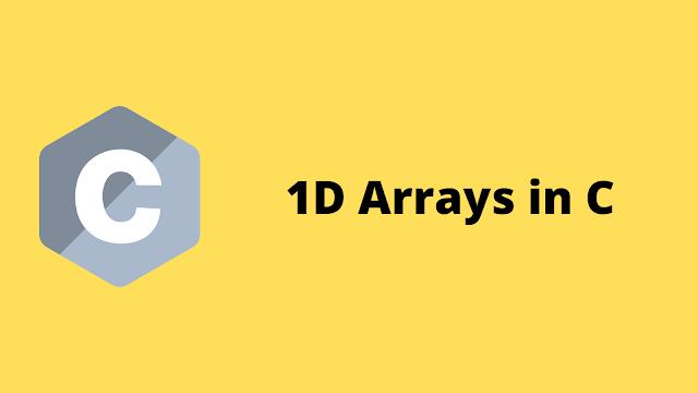 HackerRank 1D arrays in c programming solution