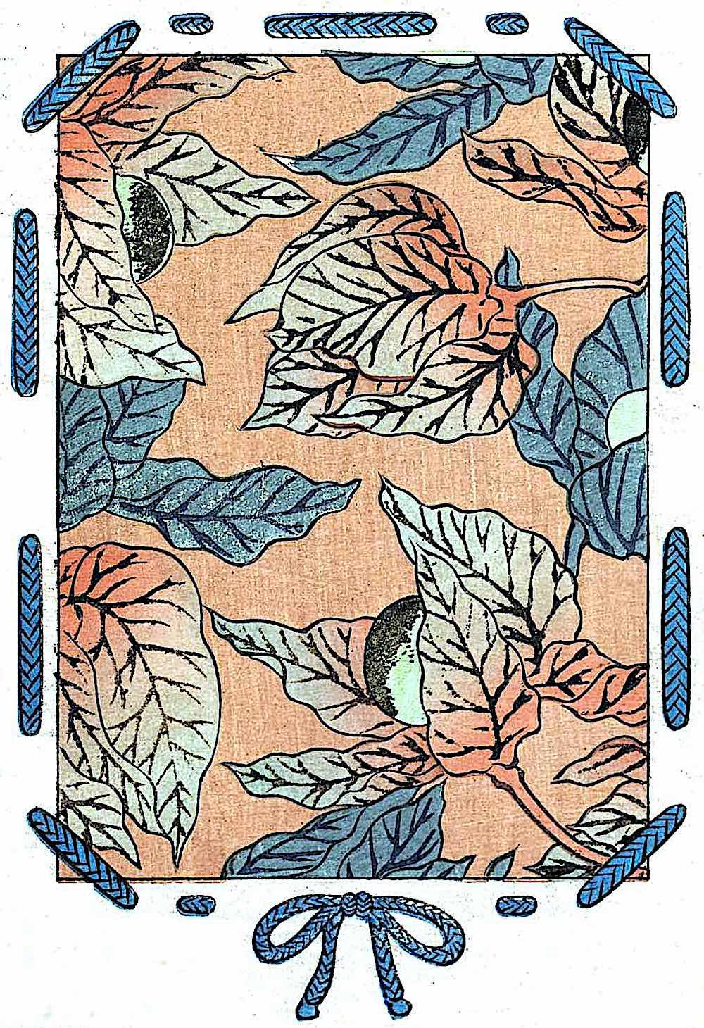 old textile Japan, Autumn theme