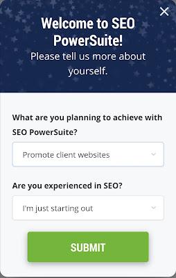 اختيار المجال والغرض لإستخدام برنامج seo powersuite