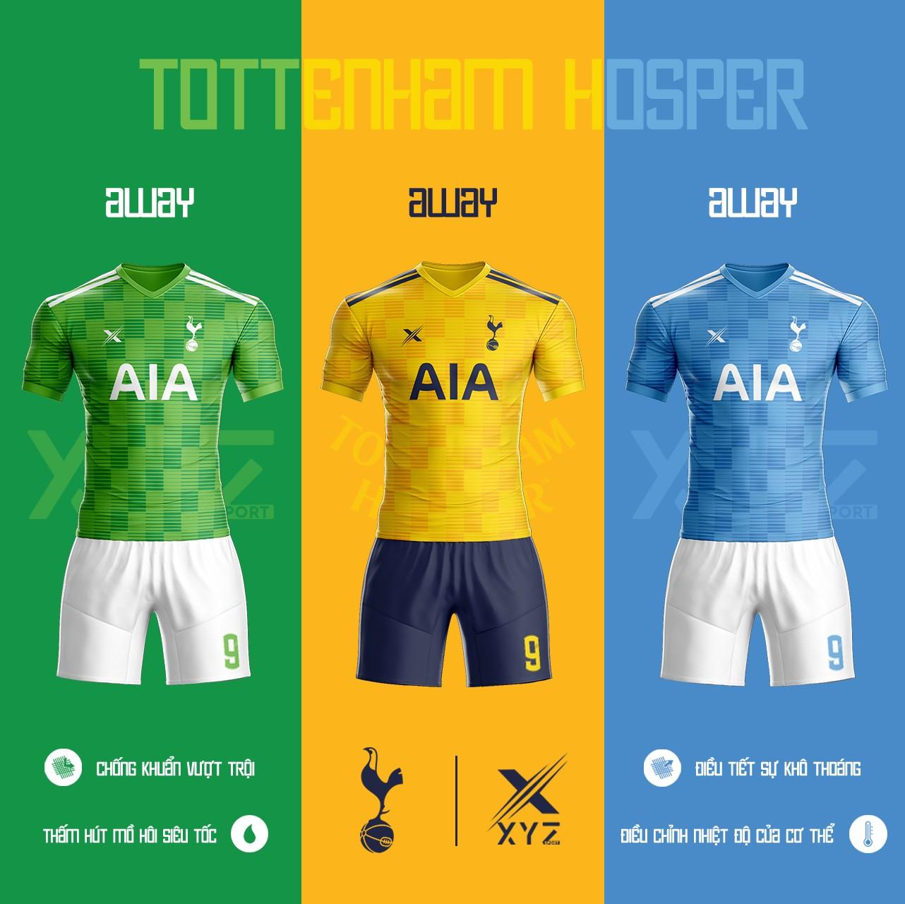 Áo Đấu Bóng Đá Tottenham Tự Thiết Kế Đẹp Và Độc - Mã TO02