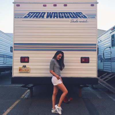 PLL 7x12 BTS Ava Allan (Addison Derringer) on set filming