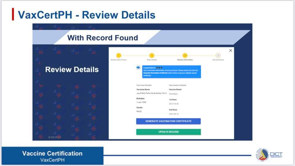 VaxCertPH record Verfication