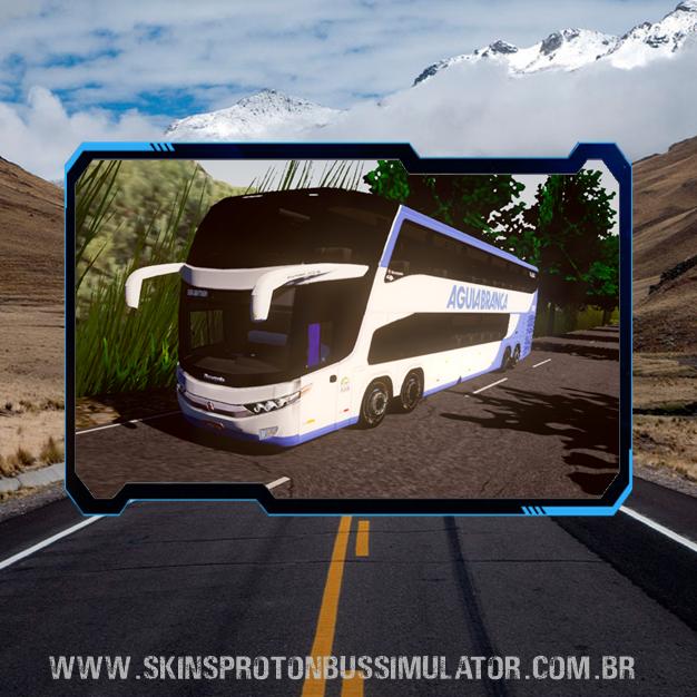 Skin Proton Bus Simulator - G7 1800 DD Volvo B450R 8X2 Viação Aguia Branca