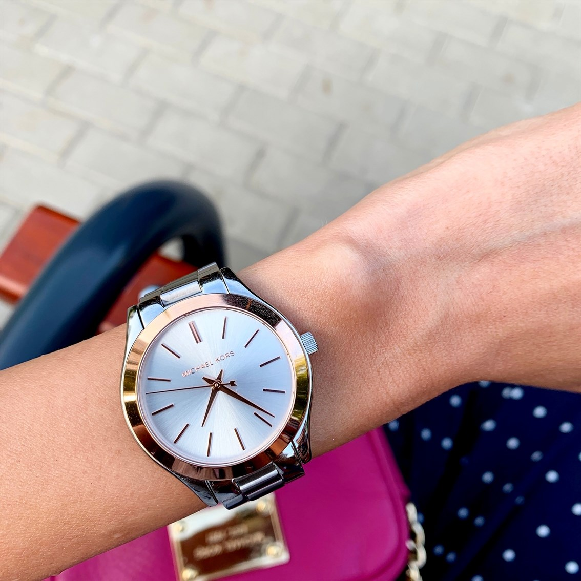 Michael Kors zegarek MK3514 MINI SLIM RUNWAY na ręce