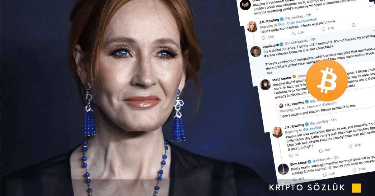 Harry Potter'ın Yazarı JK Rowling'in Bitcoin Tweet'ine Elon Musk ve Vitalik Buterin'den Yanıt!
