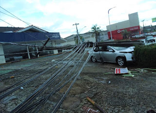 Acidentes com quebra de postes da rede elétrica diminuem na região dos cocais, mas Equatorial Maranhão alerta para o perigo