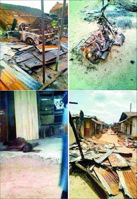 Ukanafun insecurity: Hoodlums burn down Akpan Assiek Market  *Shot two dead, kidnap one, leave a prophet, many others in critical condition