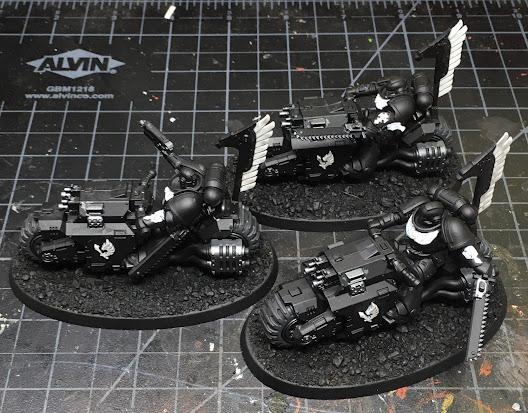 Dark Angels Ravenwing Outriders WIP