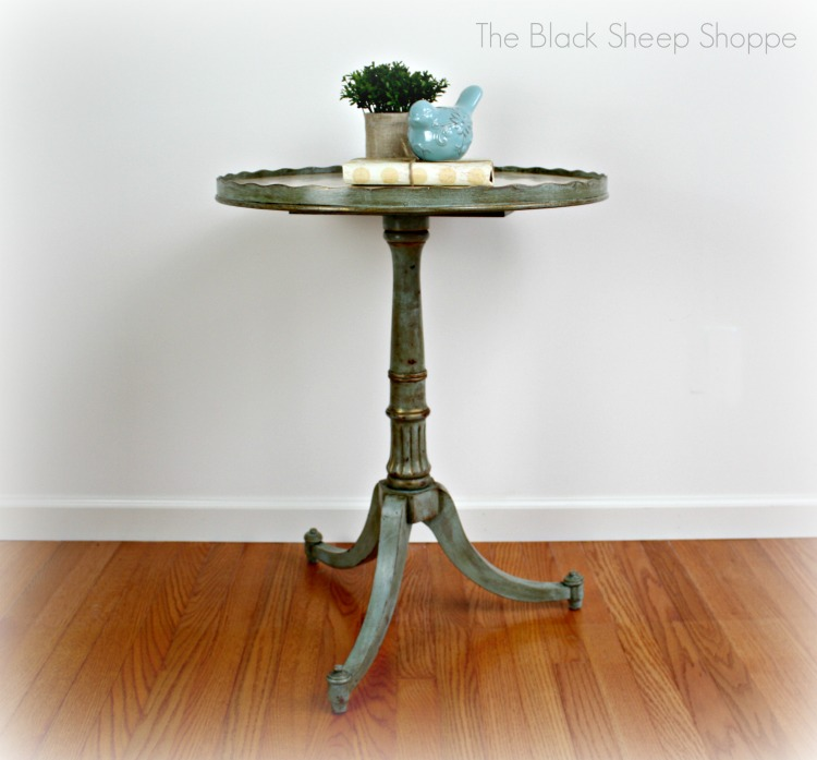 After: Vintage pedestal table.