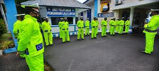 KBO Satlantas Polres Parepare Cek Kesiapan Personel dan Peralatan Hadapi Musim Hujan