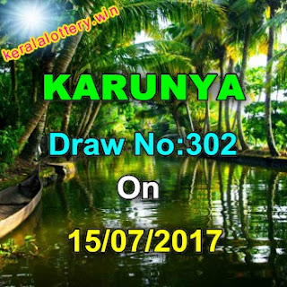 Karunya LOTTERY NO. KR-302nd DRAW held on 15/07/2017