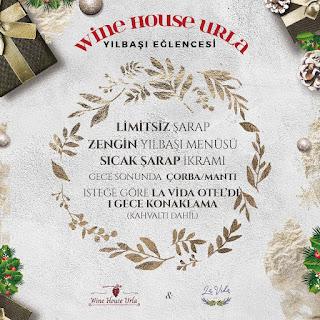 Wine House Urla İzmir Yılbaşı Programı 2020 Menüsü