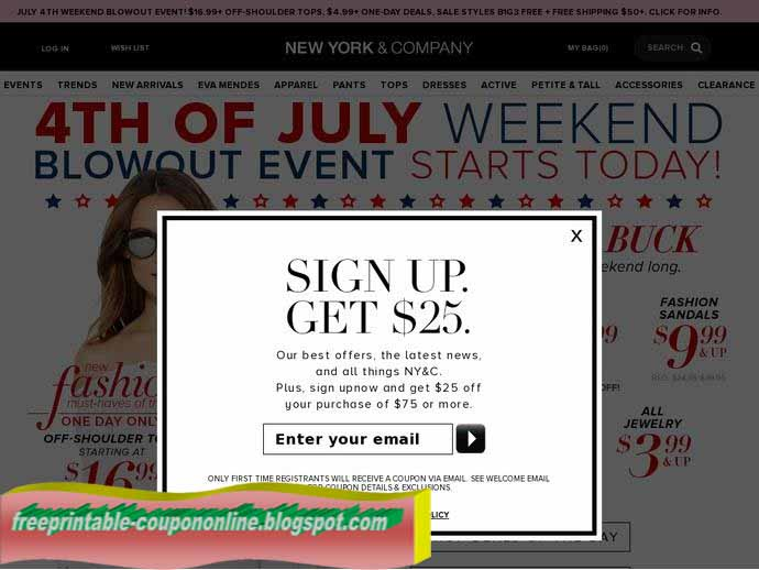 Coupon new york and company outlet