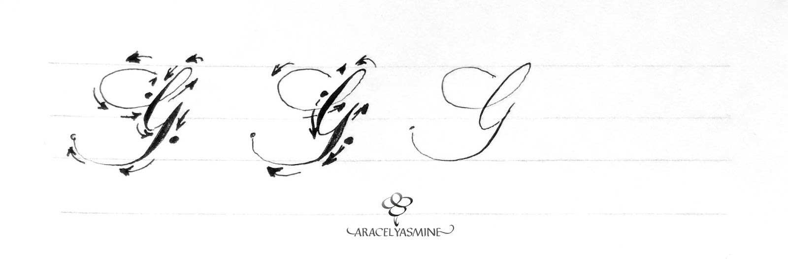 caligrafia copperplate como escribir letra g alfabeto