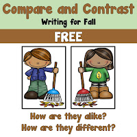 FREE Fall Compare and Contrast writing