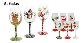 Gelas merupakan salah satu souvenir natal terfavorit