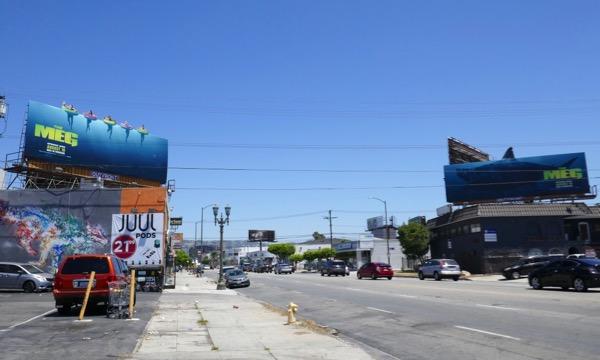 The Meg movie billboards