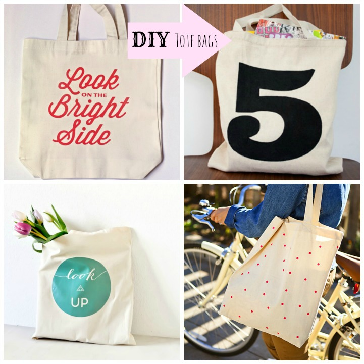 5 canvas tote DIY's