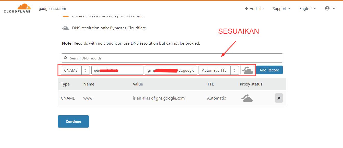 tahapan memasang cloudflare di blog - 14