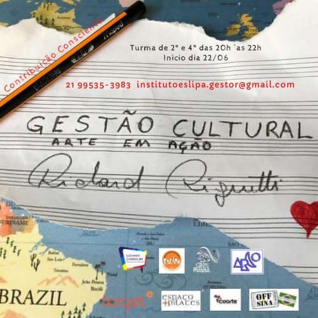 Curso online de gestão cultural, traz conhecimento em tempos de Covid-19