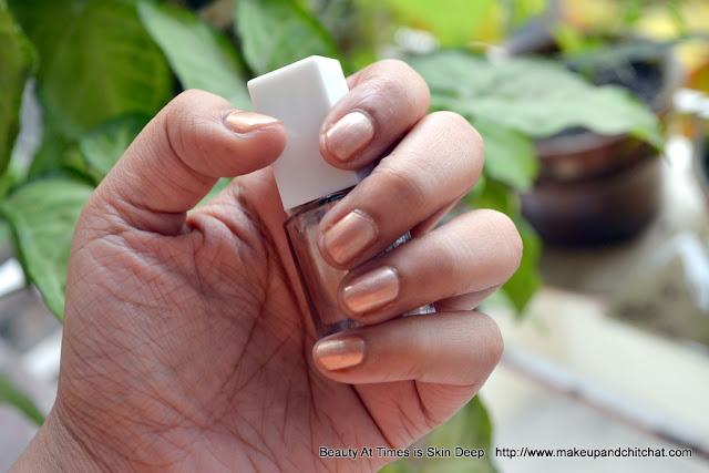 ELF Nail Polish Nude Swatch