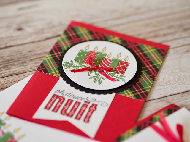 deux cartes de Noël avec le jeu d'Étampes Joyeux motifs Stampin' Up!
