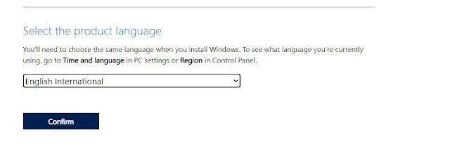 Select the language of WIndows 11 ISO before downloading