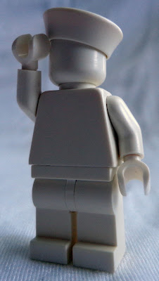 White Monochrome Minifigure: Sailor